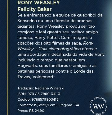 Harry Potter | Felicity Baker - No seu décimo primeiro aniversário, Harry Potter recebeu o melhor presente que podia imaginar: descobrir que é um bruxo, convidado a estudar na Escola de Magia e Bruxaria de Hogwarts. Da primeira visita ao Beco Diagonal às batalhas épicas contra o Lorde das Trevas, Voldemort, Harry Potter – Guia cinematográfico reúne citações memoráveis e fotografias dos oito filmes da saga com tudo o que os fãs precisam saber sobre o menino que sobreviveu.