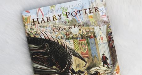 Unboxing HP e o cálice de fogo ilustrado