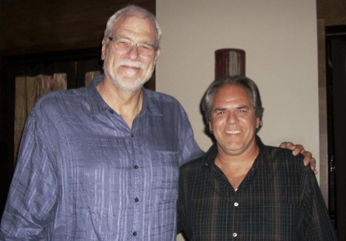 Phil Jackson e Marcos Beegu Mendes
