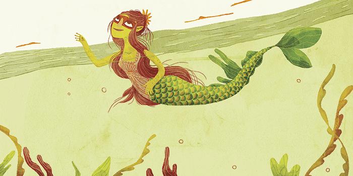 """Ilustração de Suryara para """"A perigosa Yara"""", conto do mês de maio em """"Doze lendas brasileiras"""", de Clarice Lispector."""
